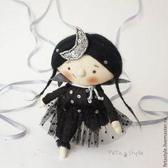Купить Ночка Звездная ночь Кукла текстильная - текстильная кукла купить, необычный подарок