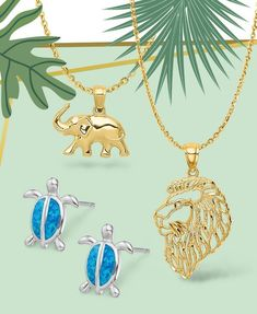 Go wild! Find your spirit animal with these wild styles available at all price points. #QualityGold #SpiritAnimal #AnimalJewelry #AnimalCharms #AnimalThemedPendants #GoWild