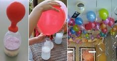 Trick To Inflate Floating Balloons Without Helium Incredible! Do It Now, It's A Great Idea If You Want To Decorate With Balloons! Kids Crafts, Diy And Crafts, Floating Balloons, Ideas Para Fiestas, Baby Party, Childrens Party, Birthday Decorations, Kids And Parenting, Diy For Kids