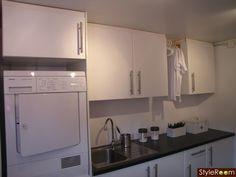 tvättstuga,svart,vitt,tvättpelare,tvättbänk