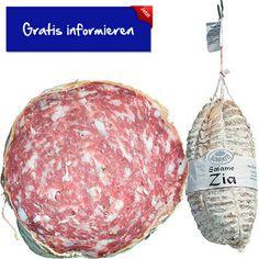 Diese köstliche Salami wird aus bestem Schweinefleisch hergestellt. Hier klicken: http://blogde.rohinie.com/2013/01/wurst/ #Italien #Salami #Knoblauch #Schweinefleisch