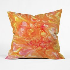 Swirled Petals Throw Pillow Cover | dotandbo.com  #pillow #throwpillow #art #abstract #homedcor #denydesigns