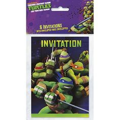 TMNT Party Invitations [8 Per Pack]