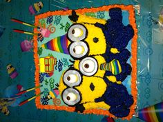 Despicable Me Birthday Cake! I am wondering if any one can make me a cake like this but a little bigger for her bday