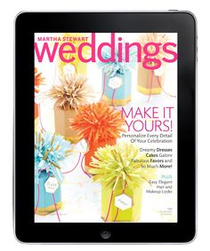See our bridal registry feature of lovely monogrammed guest towels in the new Martha Stewart Wedding issue!