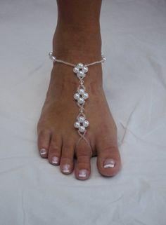 Barefoot Sandals Beach Bride Wedding