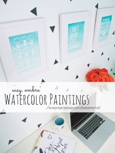Easy Watercolor Painting for Beginners!