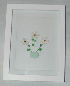 Sea Glass flowers in a pot.