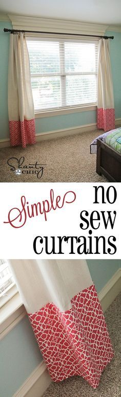 Use a drop cloth and just 1 yard of fabric! AND they're no sew.