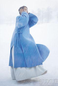 Contemporary hanbok coat