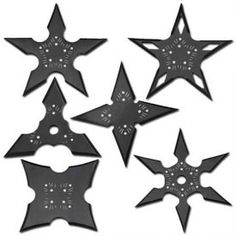 Assassins Creed Nightshade Shuriken Set Black With Pouch Zombie Weapons, Ninja Weapons, Anime Weapons, Fantasy Weapons, Fantasy Dagger, Miguel Angel, Video Game Swords, Martial Arts Supplies, Ninja Gear