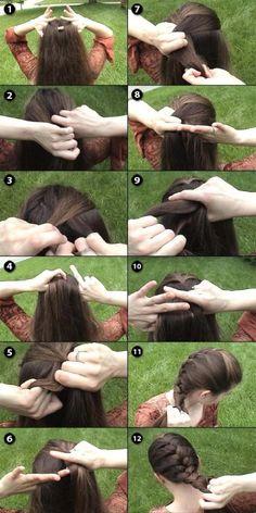 hair braid tutorial - trança embutida