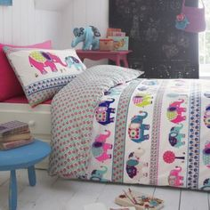 Butterfly Home by Matthew Williamson Designer kid's white elephant print bedding set- at Debenhams.com