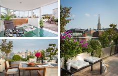 Exklusives Penthouse in der Wiener Innenstadt Solarium, Foyer, Patio, Outdoor Decor, Home Decor, Open Fireplace, Security Systems, Room Layouts, Rooftop Terrace