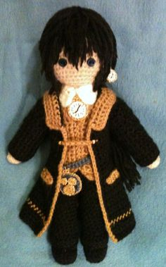 "Julius Monrey (the Clock-maker) from ""Alice in the Country of Hearts""  - amigurumi"