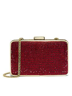 MICHAEL MICHAEL KORS Elsie Crystal-Embellished Box Clutch for Trad evening