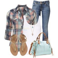 Similar to what I wear! Pastel Check Shirt for the end of Summer