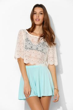 Pins And Needles Soft Flare Short - Urban Outfitters