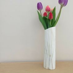Tall Dried Grass Ceramic Vase by Charlotte Hupfield