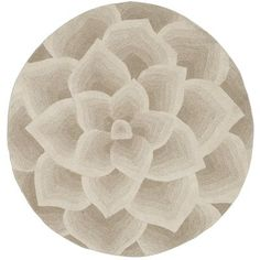 Rose Tufted Round Rugs - Ivory pier one