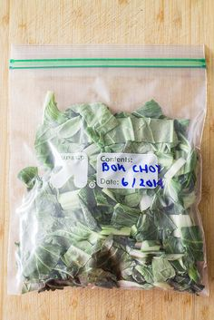 How to Freeze Bok Choy Without It Turning Mushy!