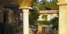 Pleasant Spanish Colonial patio/courtyard, Carmel, California