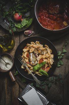 ... alla norma- Sicilian-Style Pasta with Eggplant, Tomatoes, and Ricotta
