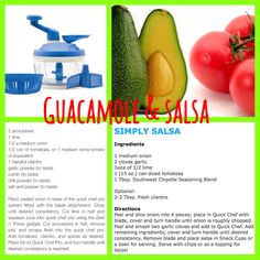 Guacamole and simply salsa with Tupperware quick chef pro!