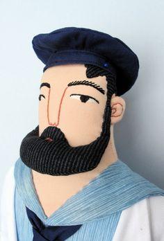 bearded man plushie