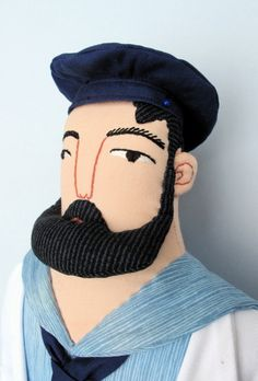 bearded man plushie