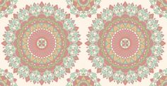 Kalinda Tile (SZ001801) - Albany Wallpapers - A large scale, traditional circular Indian motif design. Shown here in salmon. Other colour ways available. Paste the wall product. Please request a sample for true colour match.
