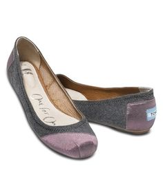 Take a look at this Pink Wool Contrast Vegan Classics Ballet Flat on zulily today!