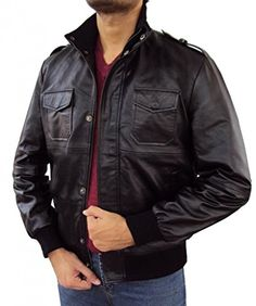 The Leather Factory Men's Lambskin Black Leather Bomber Jacket With Knitted Ribs 2XL Black The Leather Factory http://www.amazon.com/dp/B00O8TZTLE/ref=cm_sw_r_pi_dp_Hp9tub0W1MCXN