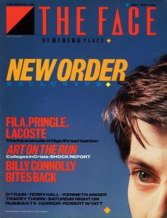 The Face |  Neville Brody |  Styled by British graphic designer Neville Brody, the Face was launched in May 1980 and immediately set the tone for what became known as the style decade. Brody's groundbreaking art direction merged dynamic typography with stylish and dramatically cropped photography, as on this July 1983 cover, creating a new visual language for magazines
