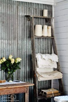 Ways to Decorate with Corrugated Metal   The Budget Decorator