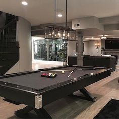 Modern Basement Man Cave With Pool Table Discover a secret spot in the home with the top 60 best basement man cave design ideas for men. Explore cool manly home interiors. Dream Home Design, Modern House Design, Home Interior Design, Interior Stylist, Luxury Interior, Room Interior, Game Room Basement, Basement Pool, Basement Bathroom