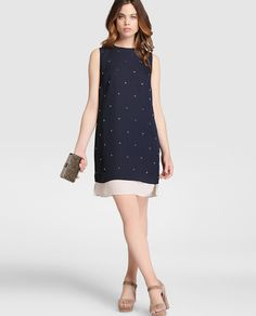 Vestido de mujer Zendra El Corte Ingles azul marino fantasía Elegant Dresses, Cute Dresses, Beautiful Dresses, Work Fashion, Curvy Fashion, Simple Summer Dresses, Vestidos Vintage, Classy Casual, Moda Online
