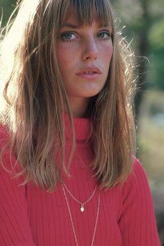 rosy cheeks, beauty. legendary it girl Jane Birkin