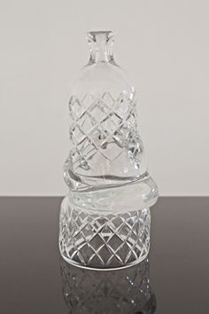 Simon Klenell | Hex Edit (Bottle) | 2014, Crystal | Unique | Sweden http://www.galleryfumi.com/Works/Vases-and-Vessels/