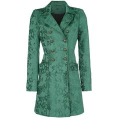- double-breasted button facing - seal buttons on the sleeve - one inside pocket - patch pockets - inverted pleat on the back  This Vive Maria winter coat names Amadeus Coat is a premium piece of clothing in a beautiful shade of green, with seal buttons on the sleeves, the double-breasted button tape on the front and the inverted pleat on the back. But it's not just premium, with both patched pockets it's also very practical.