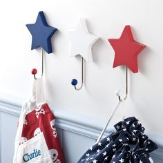 Galactic Wall Hooks (Set of 3) - Bunting  Decorations - Bedding  Room Accessories - gltc.co.uk