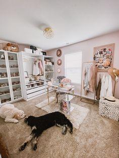 Wardrobe Room, Closet Bedroom, Bedroom Decor, Spare Room Closet, Pax Closet, White Wardrobe, Wardrobe Storage, Home Office Closet, Home Office Decor