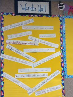 Wonder Wall for non fiction writing