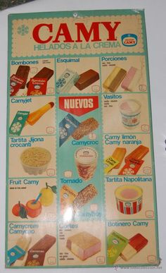 Helados Camy año 1971                                                                                                                                                     Más Vintage Advertisements, Vintage Ads, Vintage Posters, My Little Pony Baby, Nostalgia, Retro Images, Curious Cat, Advertising Poster, Old Tv