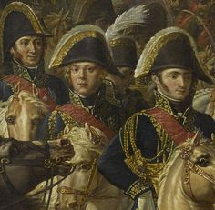 Left to right: Berthier, Ney and Jerome Bonaparte detail from Meynier: Napoleon enters Berlin