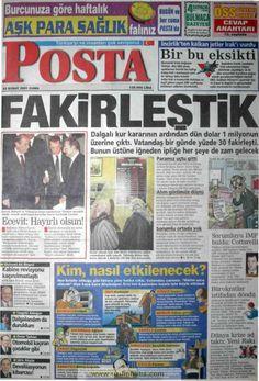 Posta gazetesi 23 şubat 2001