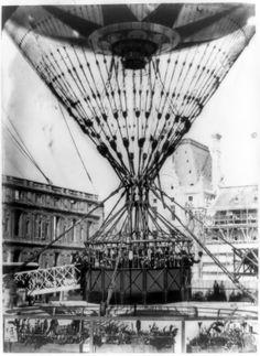 Grand ballon captif à vapeur de Mr. Henry Giffard. (1878)