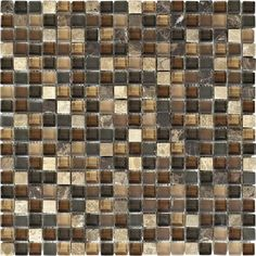 """Shaw Mosaics Stone and Glass Wall Tile 5/8"""" x 5/8"""""""