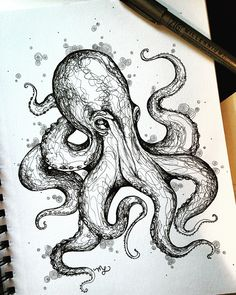 Octopus Sketch Drawing - Octopus Sketch On Behance Octopus Sketch Octopus Drawing How To Draw An Octopus Step By Step Octopus Sketch Images Stock Photos Vectors Shutterstock Octopus Sketch, Octopus Art, How To Draw Octopus, Turtle Sketch, Octopus Painting, Pencil Art Drawings, Tattoo Drawings, Drawing Sketches, Cool Sketches