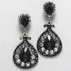 Black Hematite Crystal  Chandelier Drop Clip On Earrings. Get the lowest price on Black Hematite Crystal  Chandelier Drop Clip On Earrings and other fabulous designer clothing and accessories! Shop Tradesy now